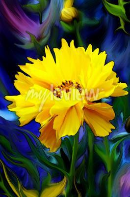 Carta da parati Słoneczny Kwiat