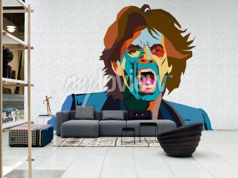 Carta da parati Mick Jagger