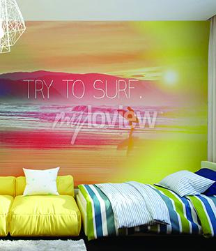 Carta da parati Cercate di Surf