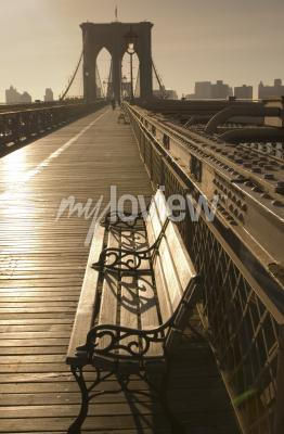 Ponte di brooklyn in seppia