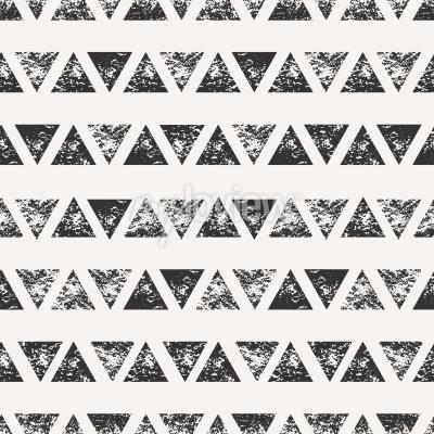 Carta da parati Astratto modello senza saldatura con forme triangolari stampati