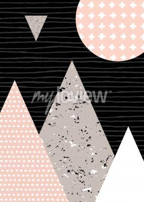 Carta da parati modello Dots e elementi geometrici