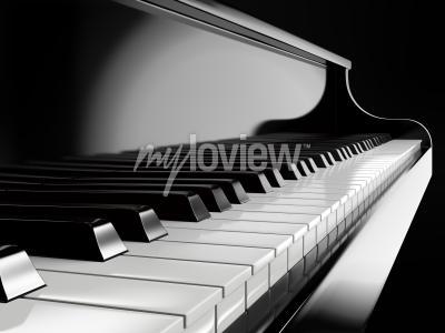 Quadro tasti di pianoforte pianoforte nero