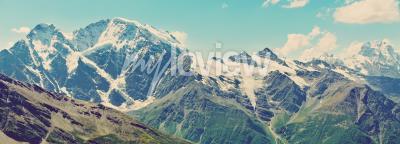 Carta da parati Inverno Panorama delle montagne