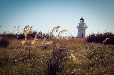 Carta da parati Storico faro a Waipapa Point Catlins Nuova Zelanda
