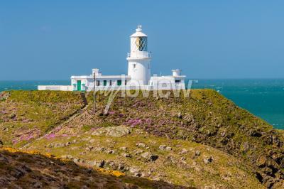 Carta da parati Strumble Head e 1908 Faro sulla costa del Pembrokeshire