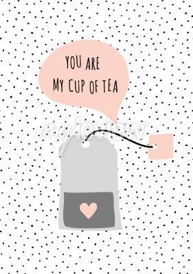 Quadro Messaggio Tu sei mia tazza di tè