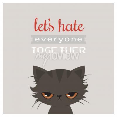 Poster Angry fumetto gatto