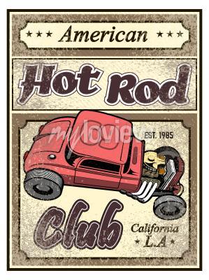 Poster Poster su auto personalizzato Hot tub