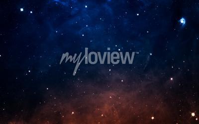 Carta da parati Starfield nello spazio profondo molti anni luce lontano dalla Terra