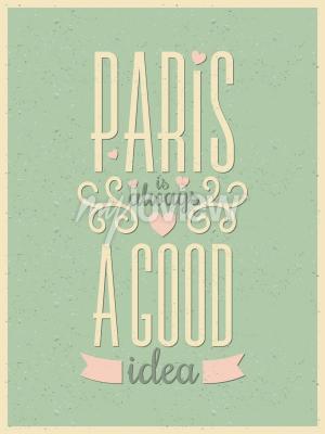 Carta da parati Poster in stile vintage Paris