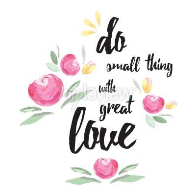 Quadro Faccia piccola cosa con grande amore