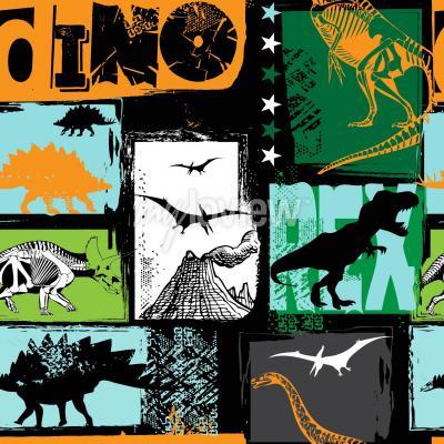 Carta da parati Design originale con dinosauro t-rex