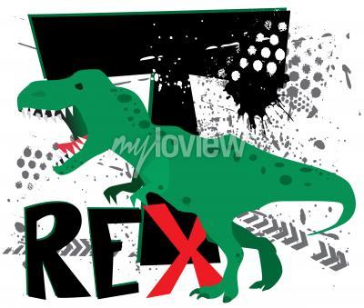 Carta da parati T-rex pericoloso