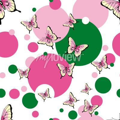Carta da parati Modello senza cuciture di vettore delle farfalle