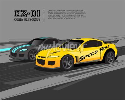 Carta da parati Modello di progettazione di auto da corsa