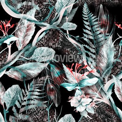 Quadro Floral Seamless Pattern