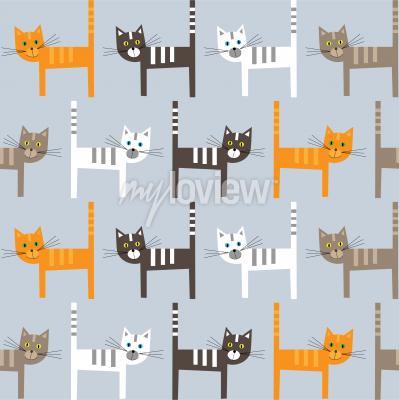 Carta da parati Cats pattern