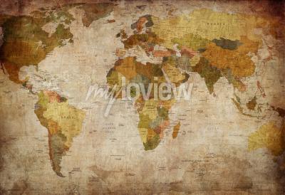 Carta da parati Old map of the world