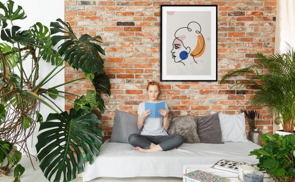 Póster minimalismo para salón