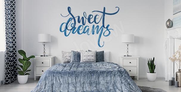 Adesivo con motto per camera da letto