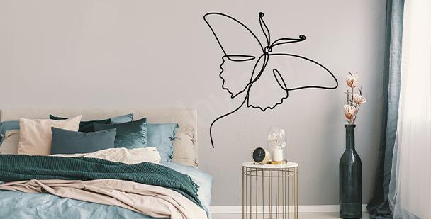 Adesivo da parete minimalista