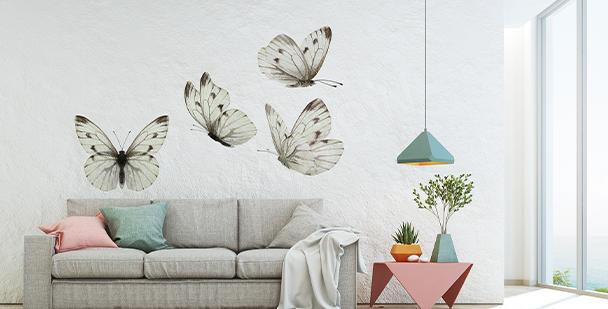 Adesivo farfalle color seppia