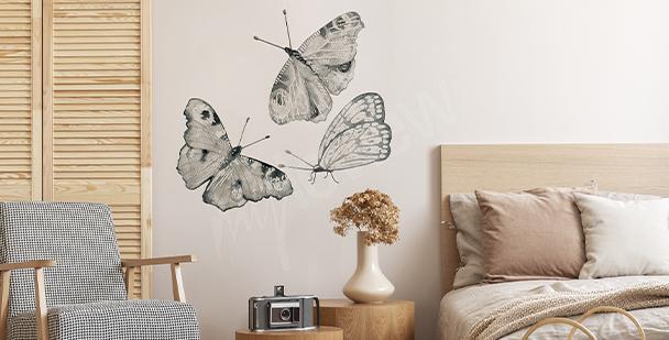 Adesivo farfalle per camera da letto