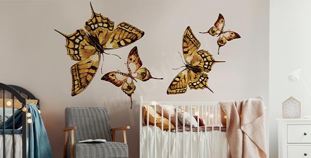 Adesivo farfalle per stanza bambino