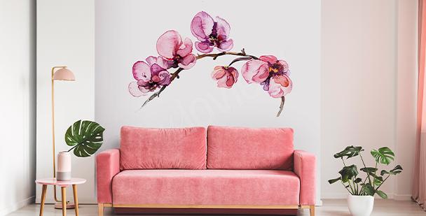 Adesivo floreale da parete