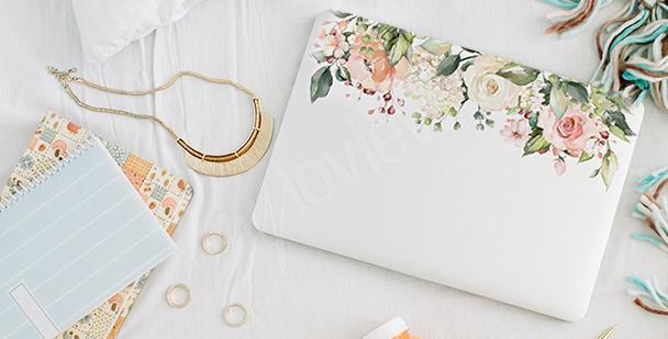 Adesivo floreale per laptop