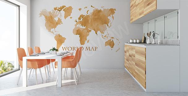 Adesivo mappa del mondo anticata
