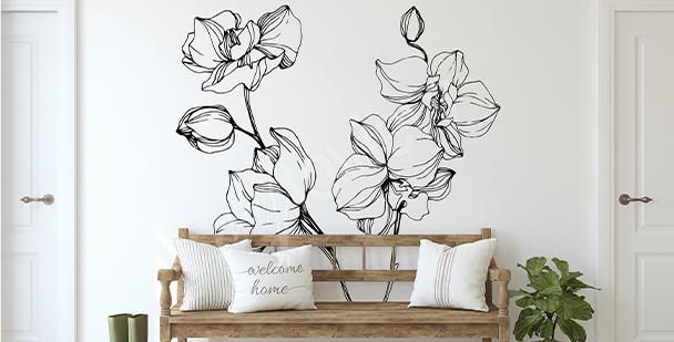 Adesivo minimalista orchidea