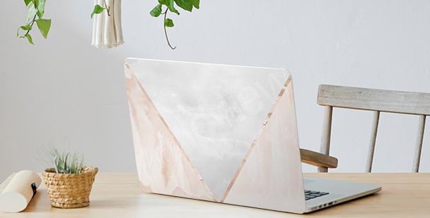Adesivo minimalista per laptop