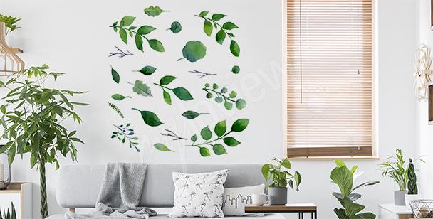 Adesivo minimalista vegetazione