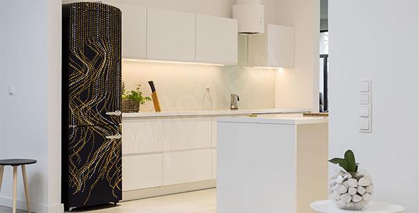 Adesivo nero dorato per frigorifero