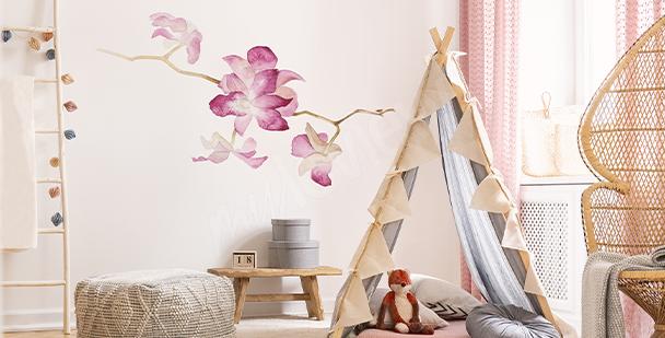 Adesivo orchidea ad acquerello