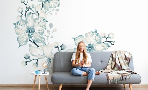 Adesivo orchidea per il soggiorno
