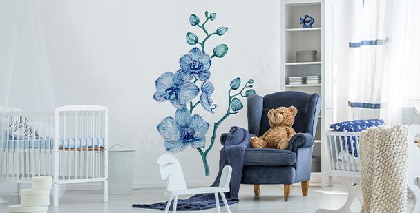 Adesivo orchidea per stanza bambino
