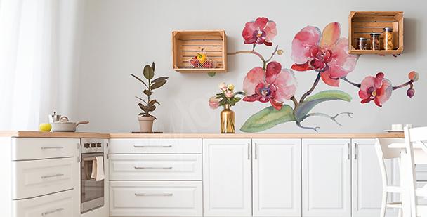 Adesivo orchidee per cucina