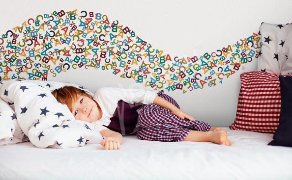 Adesivo per camera da letto con lettere