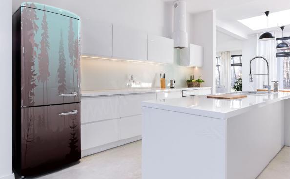 Adesivo per frigorifero con foresta