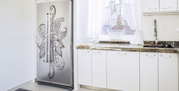 Adesivo per frigorifero ornamento