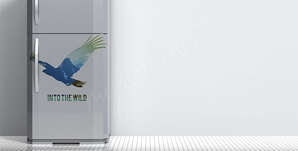Adesivo per frigorifero uccello
