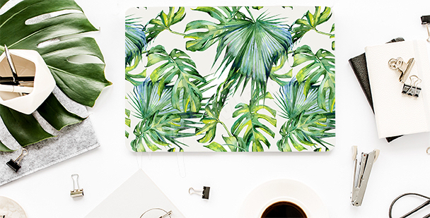Adesivo per laptop con foglie