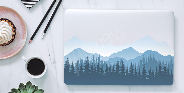 Adesivo per laptop montagne nella nebbia