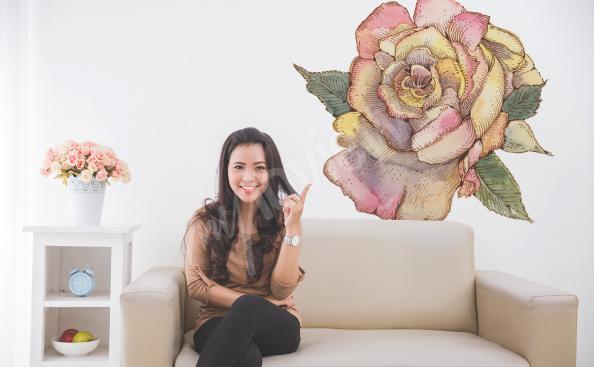 Adesivo per soggiorno con fiore