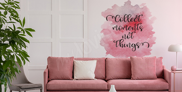 Adesivo rosa per soggiorno