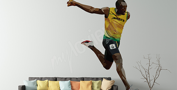 Adesivo sportivo Usain Bolt