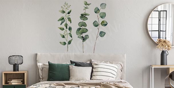 Adesivo vegetazione ad acquerello